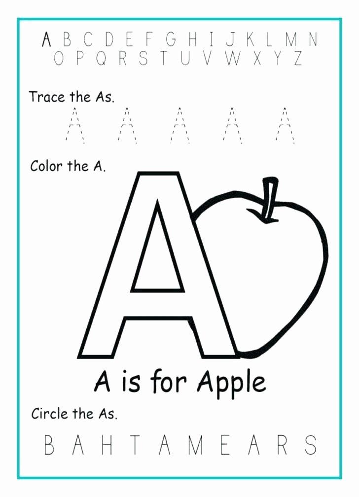Apple Worksheets Kindergarten Beautiful Free Alphabet Worksheets for Kindergarten Printable Tracing Ki