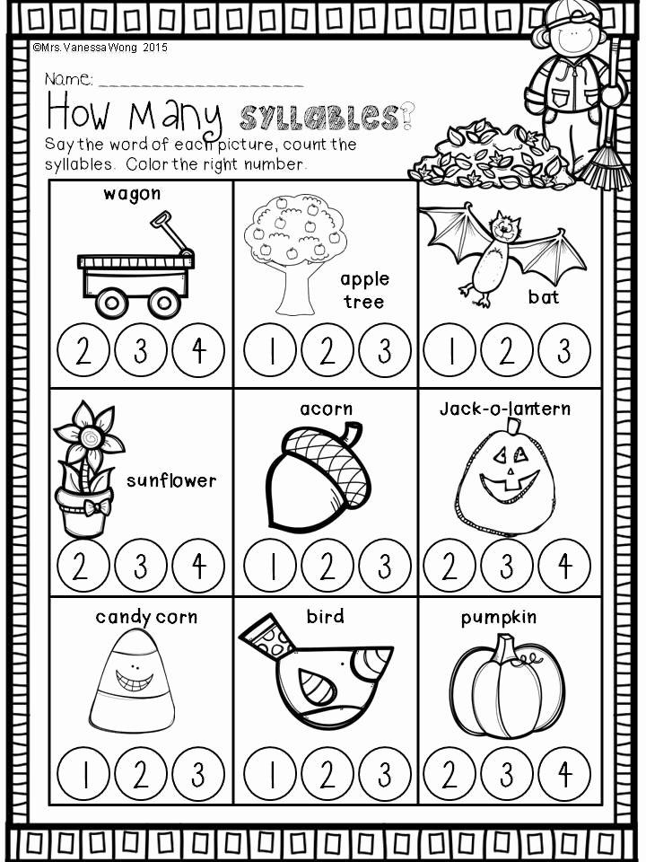 Apple Worksheets Kindergarten Best Of Fall Activities for Kindergarten Math and Literacy No Prep