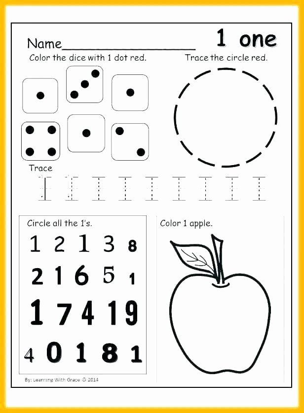 Apple Worksheets Kindergarten Lovely Counting and Number Recognition Worksheets