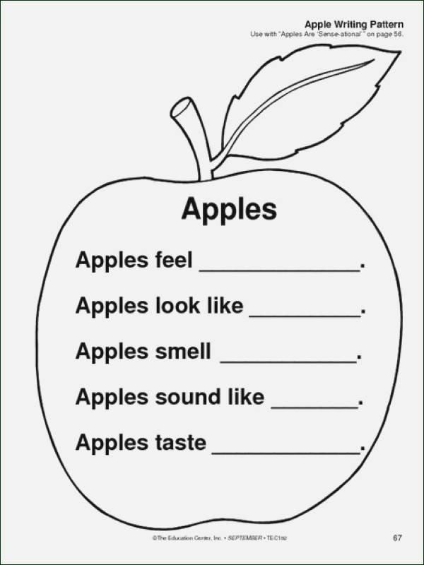 Apple Worksheets Kindergarten Luxury Apple Worksheets