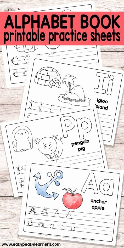 Apple Worksheets Preschool Free Printable Alphabet Book for Preschool and Kindergarten