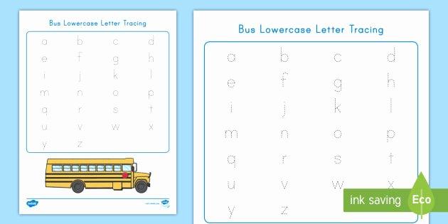 Arabic Alphabet Tracing Worksheets Bus Lowercase Letter Tracing Worksheet Worksheet Usa