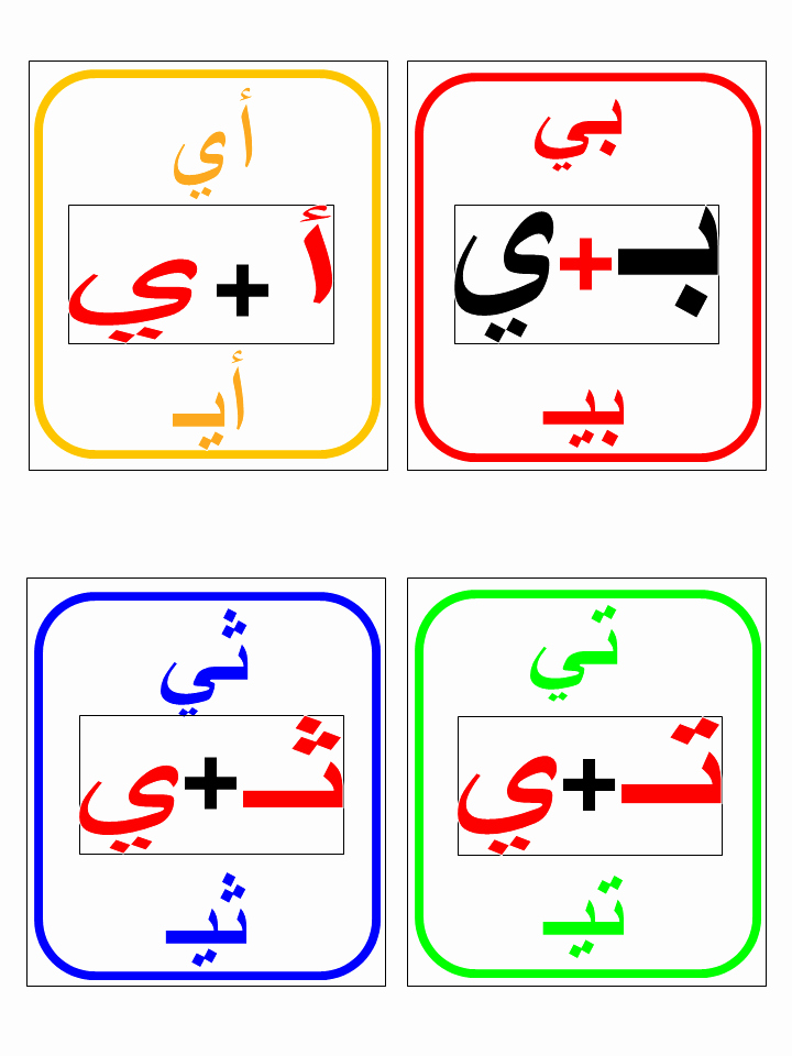 Arabic Alphabet Worksheets for Preschoolers Arabic Long Vowels Flashcards Part Iii Image 2