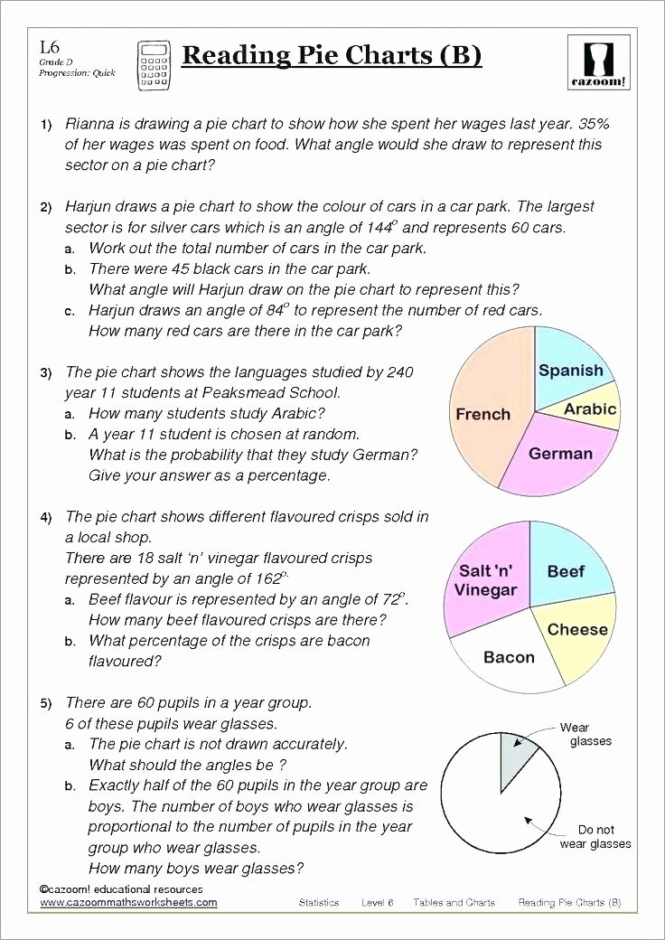 Arabic Worksheets Pdf Math Grade Graphing Worksheets Circle Graph Middle School