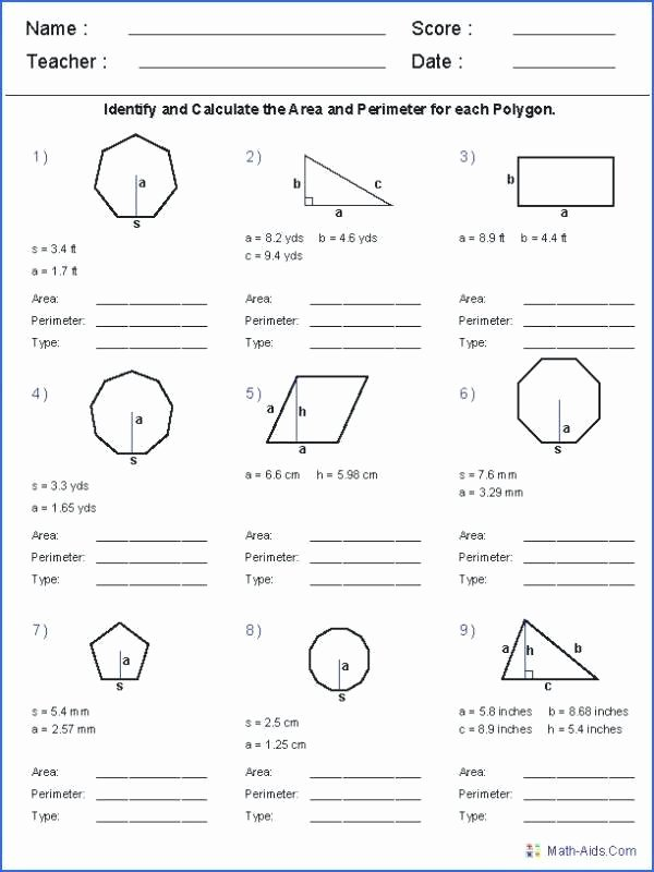 Area Irregular Shapes Worksheet Perimeter Of Polygons Worksheet – Espace Verandas