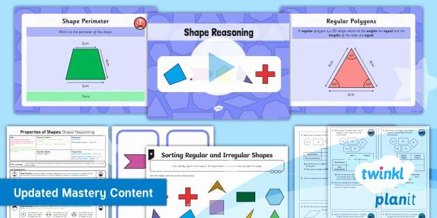 Area Irregular Shapes Worksheet Planit Maths Y5 Properties Of Shapes Lesson Pack Regular and