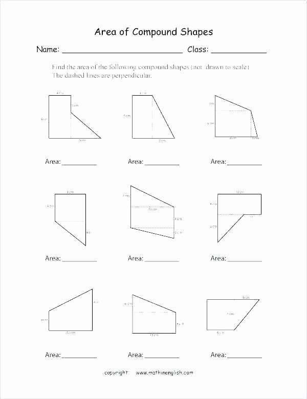 Area Of Compound Shapes Worksheet 1st Grade Geometry Worksheets