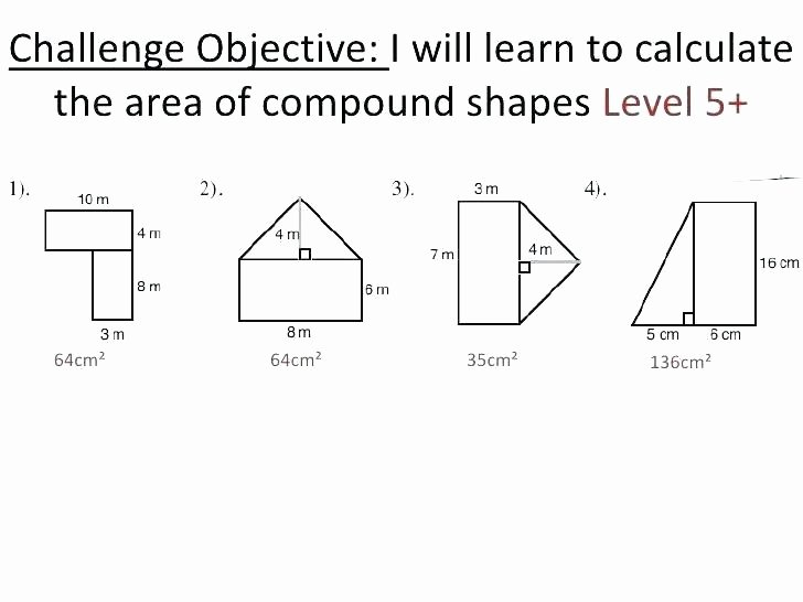 Area Of Compound Shapes Worksheet area and Perimeter Triangle Worksheets – atrevetehoy
