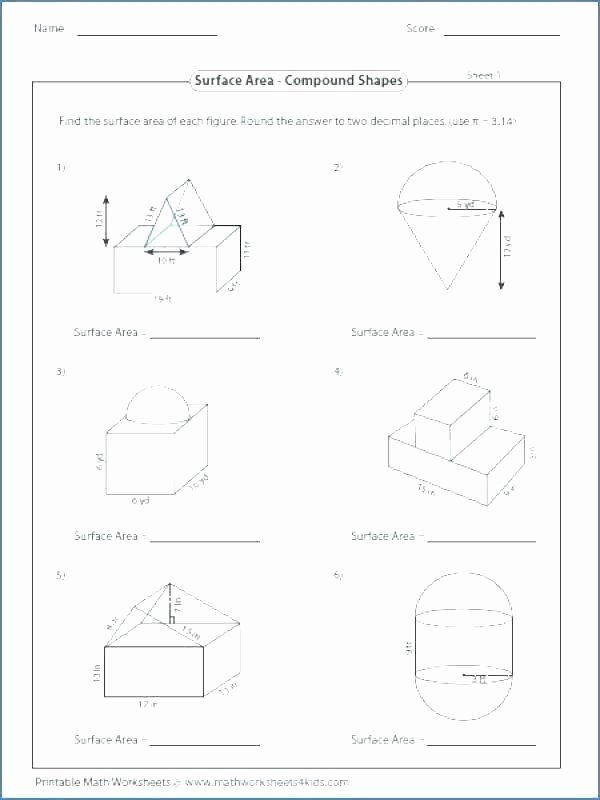Area Of Compound Shapes Worksheet Geometric Figures Worksheet – originalpatriots