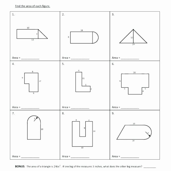Area Of Compound Shapes Worksheet Geometry Volume and Surface area Worksheets Polygon