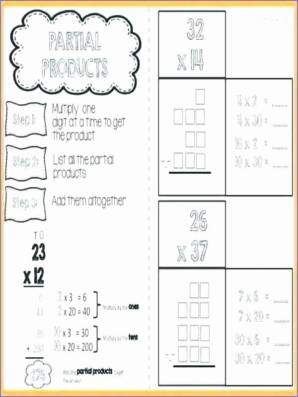 Array Math Worksheets 4th Grade area Model Multiplication Worksheets