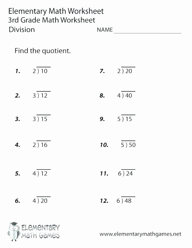 Array Math Worksheets Math Worksheets Multiplication Grade and Division Line