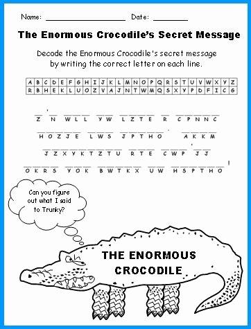 Author Craft Worksheets Fresh Enormous Crocodile Lesson Plans Author Roald Dahl