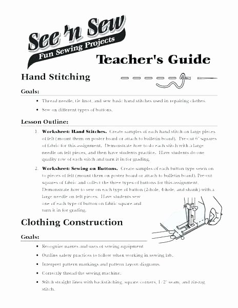 Author Craft Worksheets New Free Sewing Practice Worksheets the Basics Introductory for