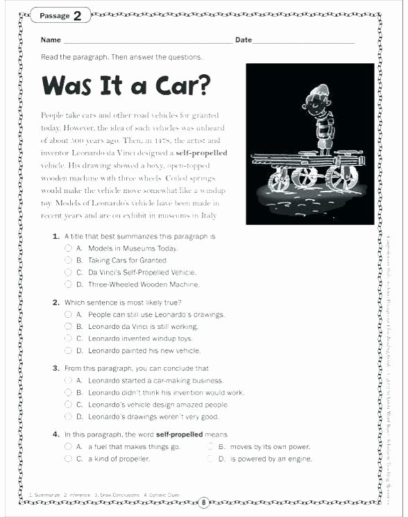Automotive Worksheets for Highschool Students Best Of Free 4th Grade Language Arts Worksheets