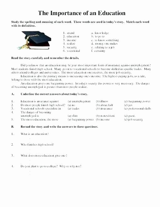 Automotive Worksheets for Highschool Students New Job Worksheets for Highschool Students