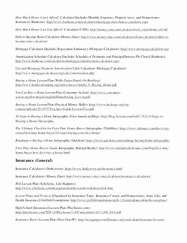 Automotive Worksheets for Highschool Students Unique Practical Life Skills Worksheets