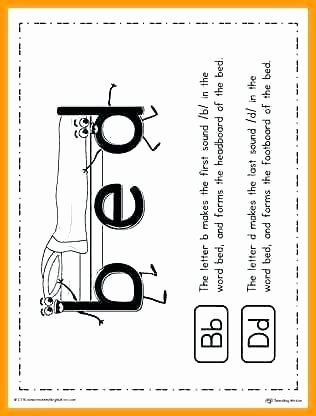 B and D Reversals Worksheets Handwriting Worksheets for Kindergarten Fresh Letter B and D