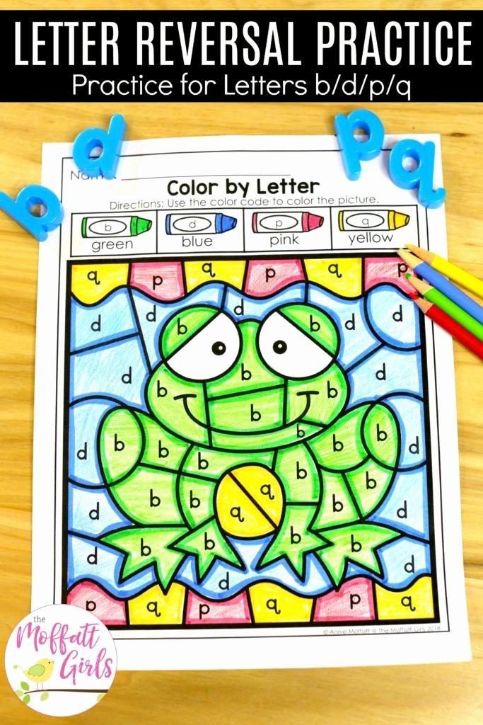 B and D Reversals Worksheets Letter Reversal Practice Alphabet