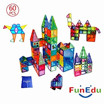 Base 10 Blocks Clip Art 60 Piece Magnetic Tiles Building Blocks toys Set Powerful Magnets Various Shapes E Magnetic Wheel Base Four Magnetic Windows E Bonus Bag for