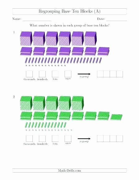 Base 10 Blocks Clip Art Base Ten Blocks Worksheets 5th Grade