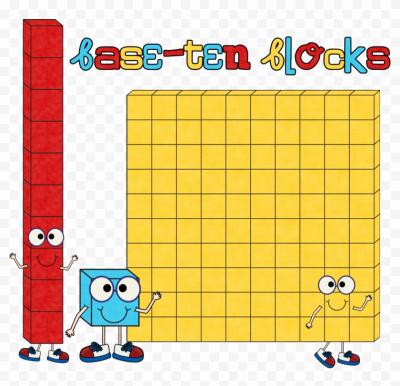 Base 10 Blocks Clip Art Place Value Clipart