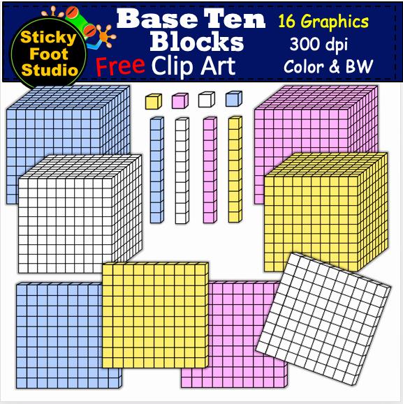 Base 10 Blocks Clipart 2nd Archives Madebyteachers