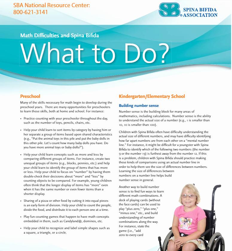 Base Ten Addition Worksheets Math Difficulties Spina Bifida association