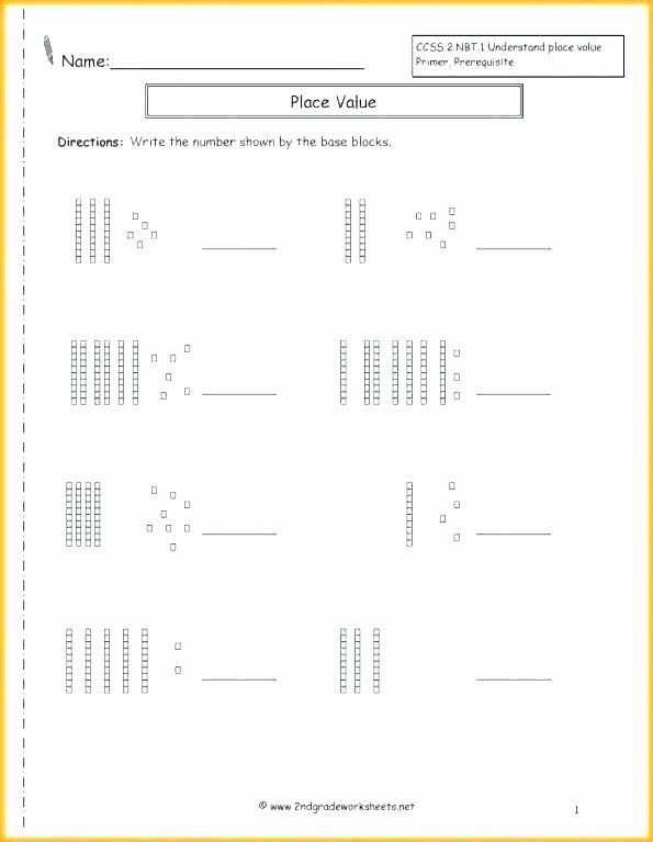 Base Ten Addition Worksheets Resource Math Place Value Worksheet 1 3 Worksheets Grade 2