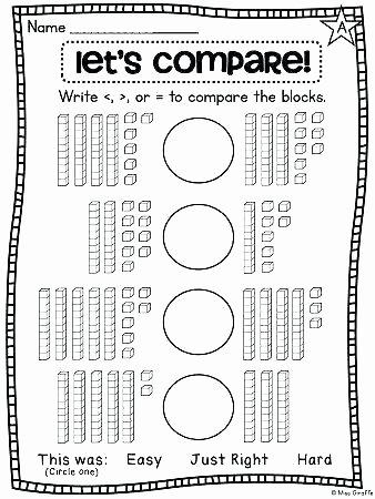 Base Ten Model Worksheets Base Ten Worksheets 2nd Grade First Grade Math Unit