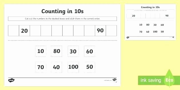 Base Ten Model Worksheets Counting by Tens Worksheets First Grade Place Value
