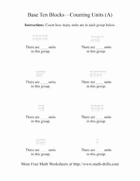 Base Ten Model Worksheets Grade 3 Math Base Ten Blocks Worksheets for Second Freebie