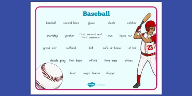 Baseball Math Worksheets Luxury Baseball Vocabulary Mat Usa Baseball Mlb Major League