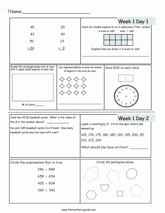 5 grade math review number and operations in base ten clock number review worksheets 1 10