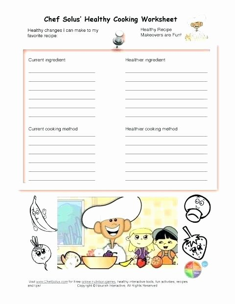 Basic Cooking Skills Worksheets Cooking Worksheets