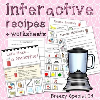 Basic Cooking Skills Worksheets Visual Recipes Worksheets & Teaching Resources