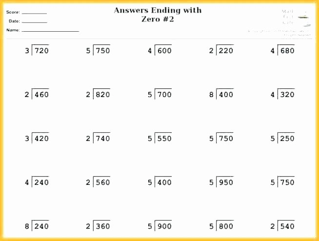 Basic Division Fact Worksheets Basic Division Practice Worksheets