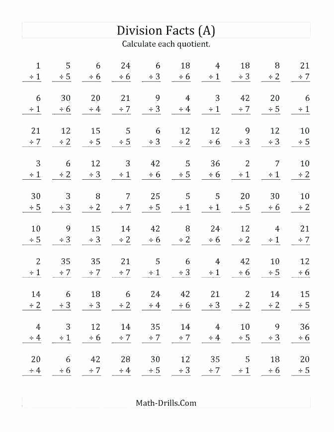 Basic Division Fact Worksheets Multiplication Worksheet Generator – Espace Verandas