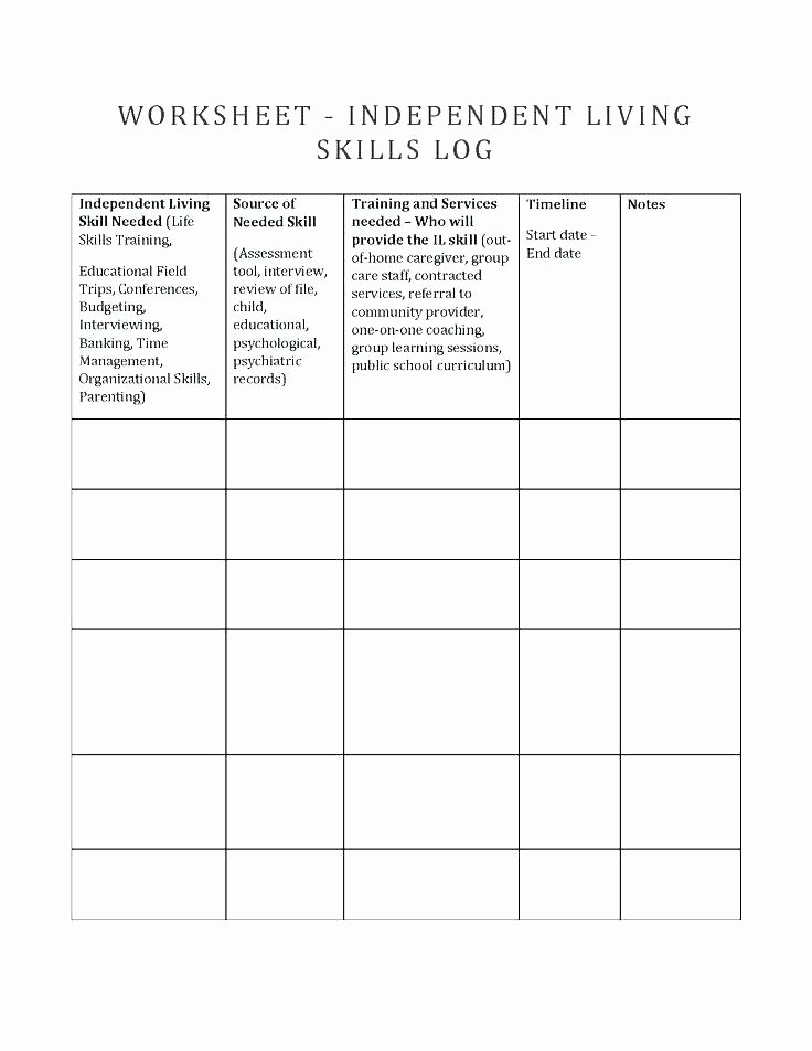 Basic Life Skills Worksheets Positive Parenting Skills Worksheets Lovely Curriculum Guide