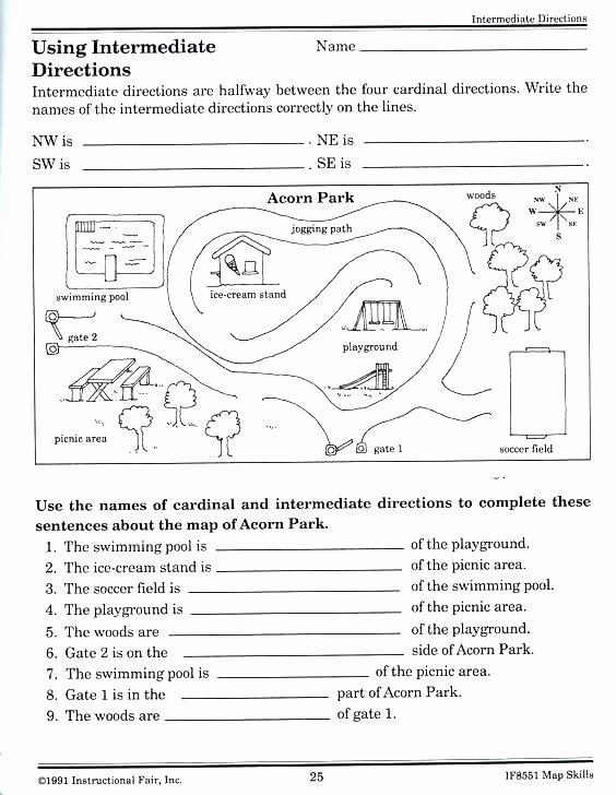Basic Map Skills Worksheets Free Printable Weather Worksheets Preschool and for Coloring