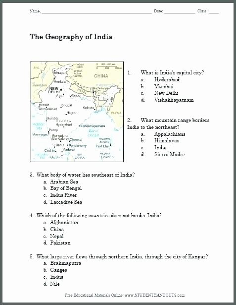 Basic Map Skills Worksheets Map Geography Skills Grade social Stu S Geography Map