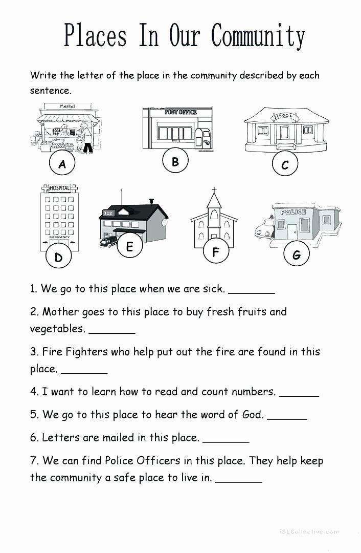 Basic Map Skills Worksheets Munity Safety Skills Worksheets