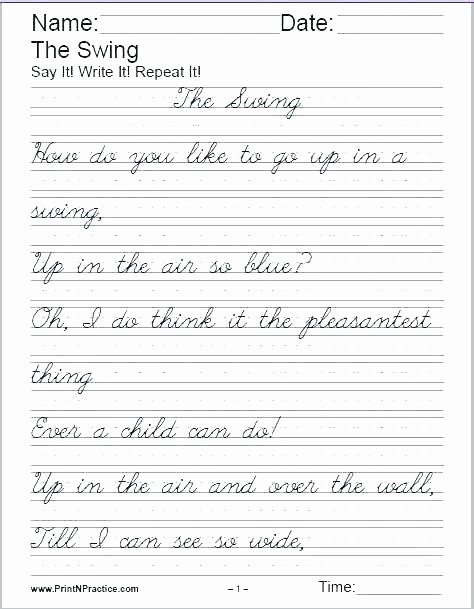 Basic Sentence Worksheets Cursive Writing Sentences Worksheets