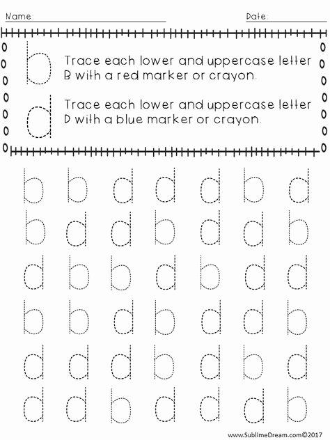 Bd Reversal Worksheets B D Letter Reversal Match Beginning sound Worksheet