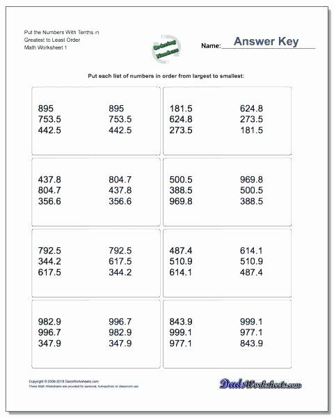 Bd Reversal Worksheets Grade Math Decimals Worksheets Other Size S Decimal Place