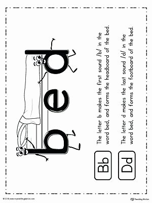 Bd Reversal Worksheets Letter formation Free Early Years Primary Teaching Resources