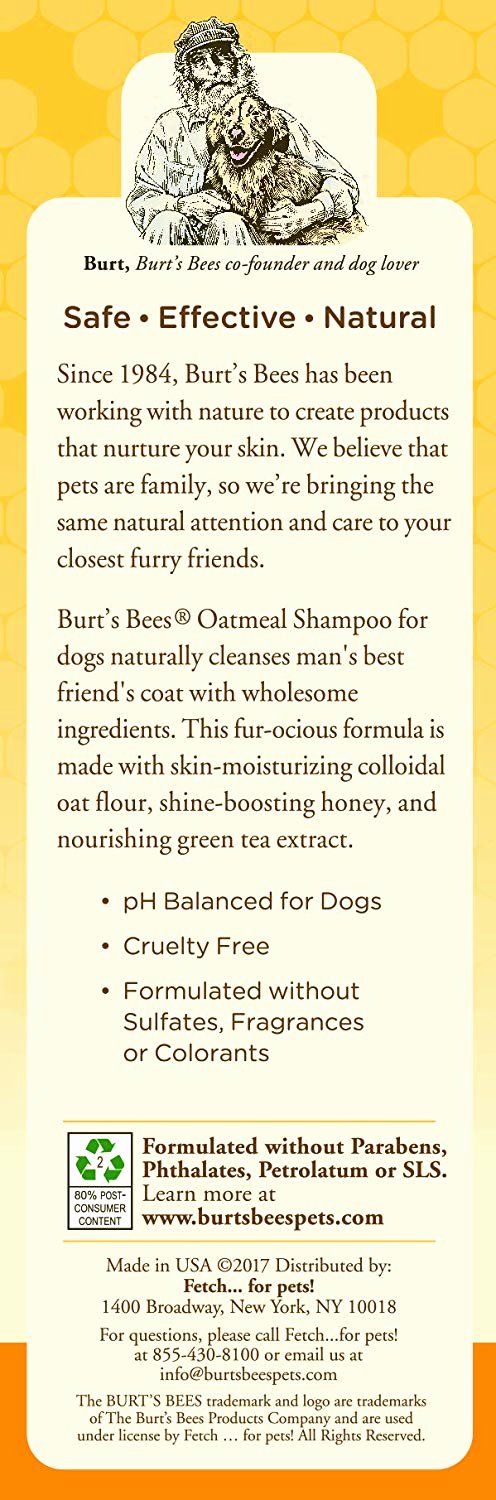 Bee Movie Worksheet Answers Burt S Bees All Natural Oatmeal Shampoo & Conditioner for Dogs Made with Colloidal Oat Flour and Honey