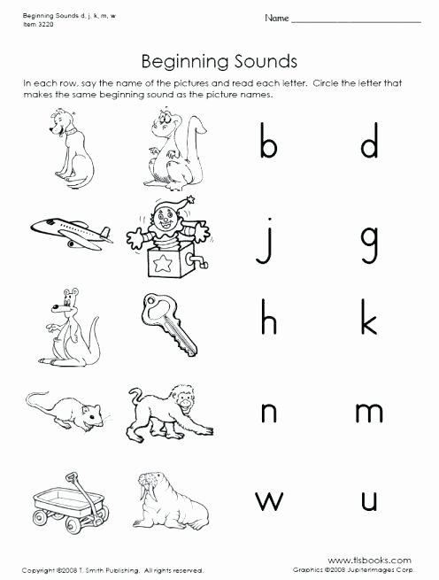 Beginning and Ending sound Worksheets M sound Worksheets Beginning for Kindergarten Beautiful Free