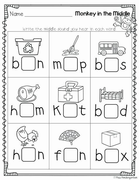 Beginning and Ending sound Worksheets Pinterest Espa±a