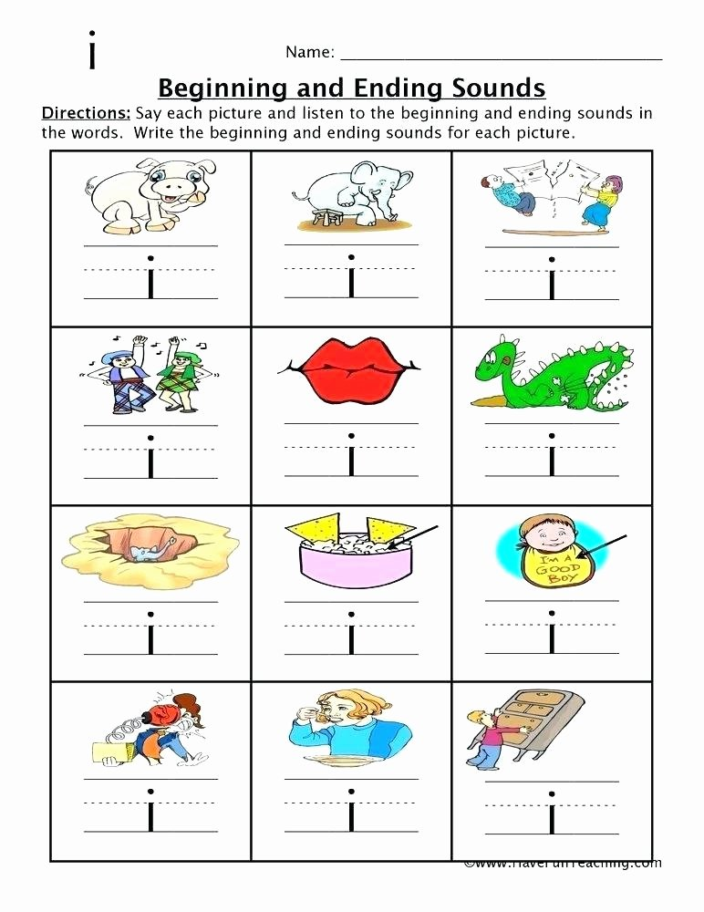 Beginning and Ending sound Worksheets Worksheets Worksheets for Kindergarten Build A Word